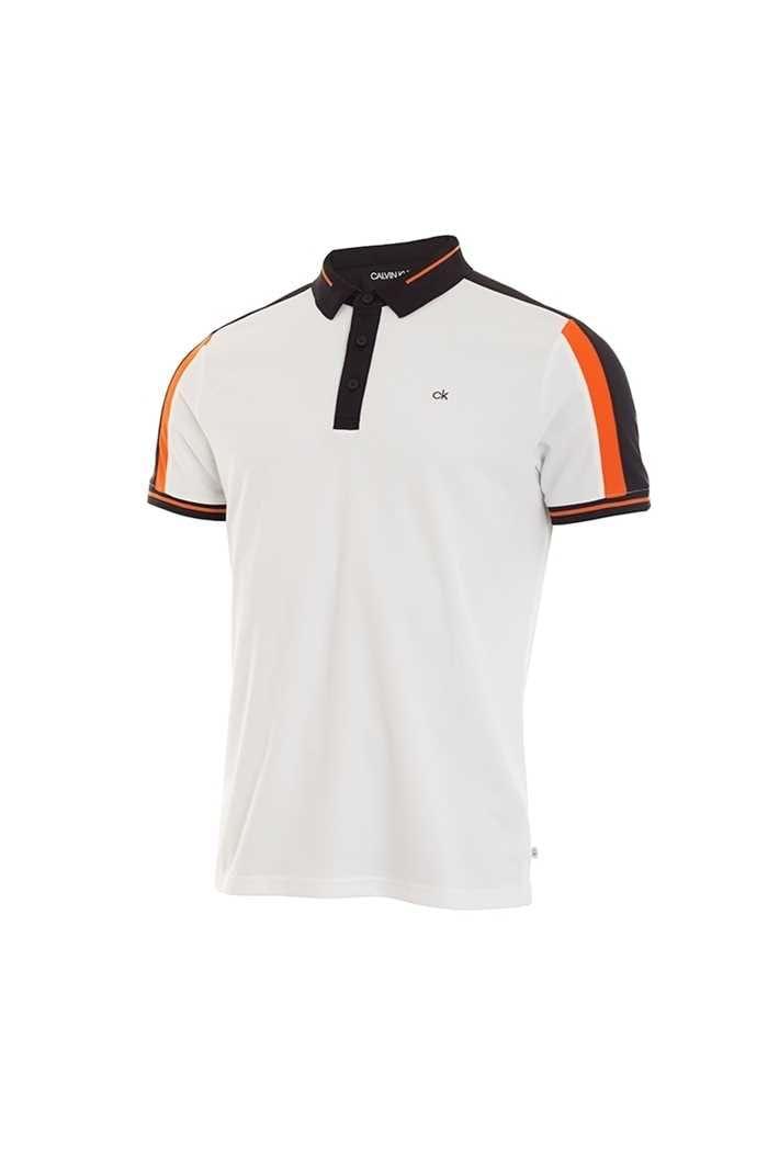 Picture of Calvin Klein zns Men's Aerospan Polo Shirt - White / Porange