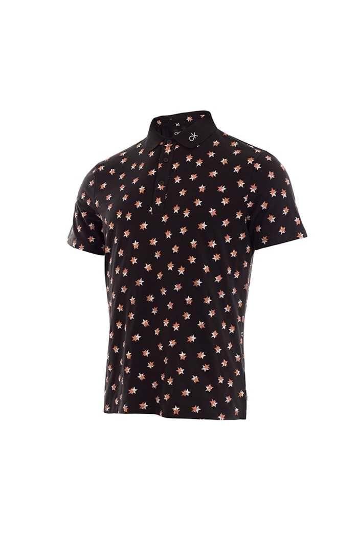 Picture of Calvin klein Men's Scalar Polo Shirt - Black / Porange