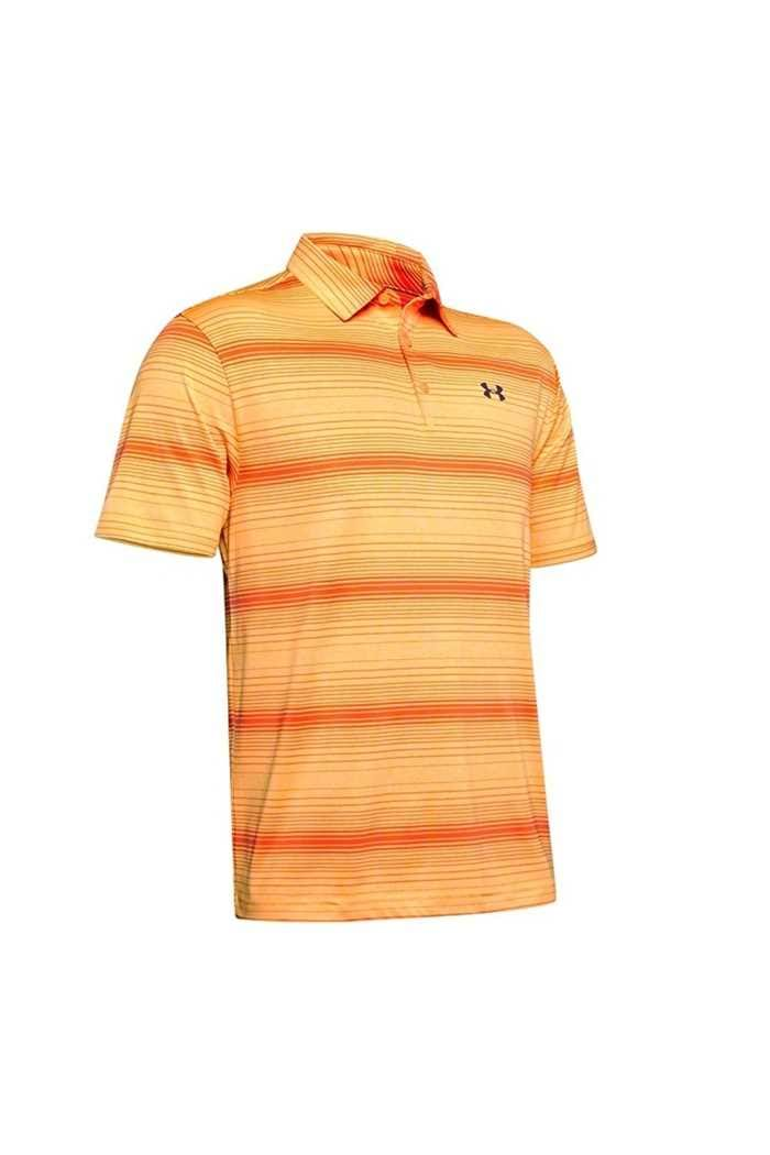 Picture of Under Armour UA Men's Playoff 2.0 Polo Shirt - Orange Stripe 492