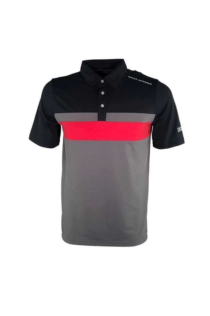 Picture of Oscar Jacobson ZNS Boston Course Polo Shirt -  Black 310