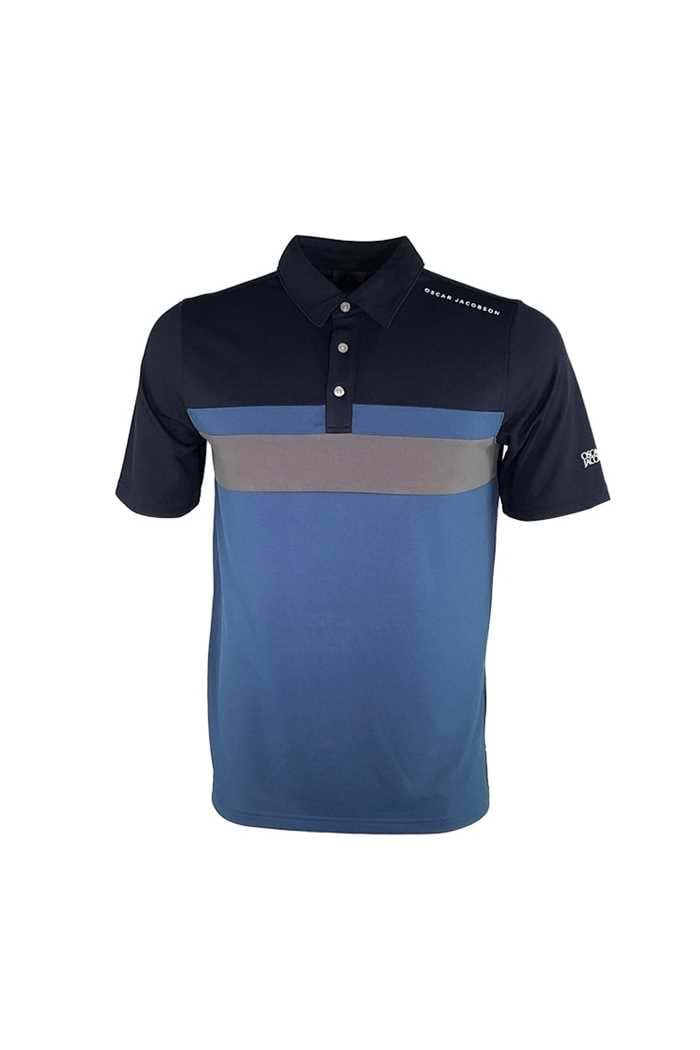 Picture of Oscar Jacobson Boston Course Polo Shirt - Dark Blue 216