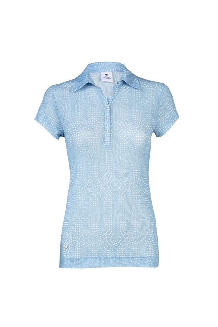 Picture of Daily Sports Aggie Mesh Cap Sleeve Polo Shirt - Mermaid