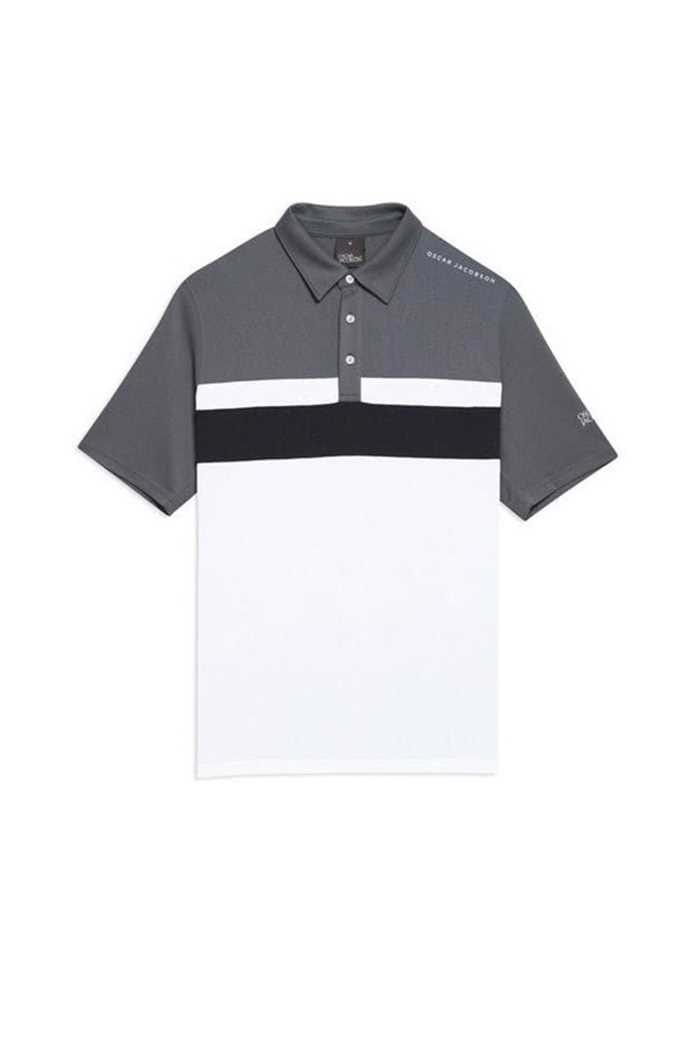 Picture of Oscar Jacobson ZNS Boston Course Polo Shirt - Dark Grey 110