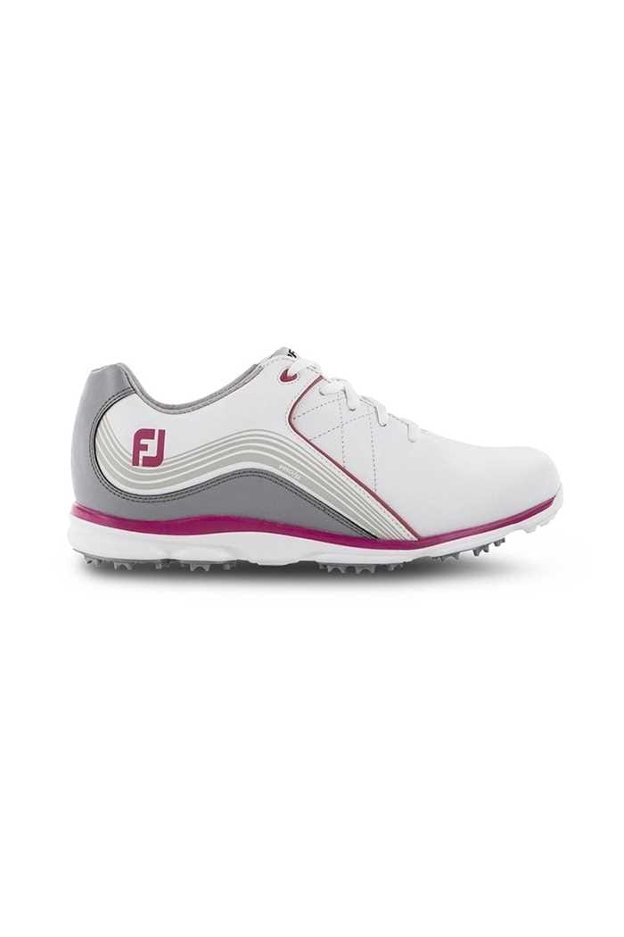 Picture of Footjoy Ladies Pro SL Golf Shoes - White / Grey / Pink
