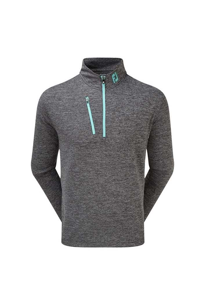 Picture of Footjoy Heather Pinstripe Chill-out - Black / Aqua