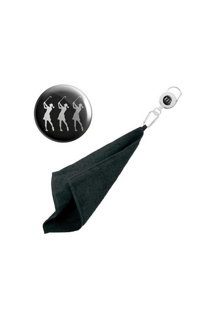 Picture of Surprizeshop zns  Retractable Towel - Black Lady Golfer