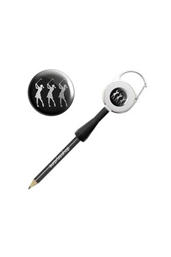 Picture of Surprizeshop zns Retractable Pencil - Black Lady Golfers