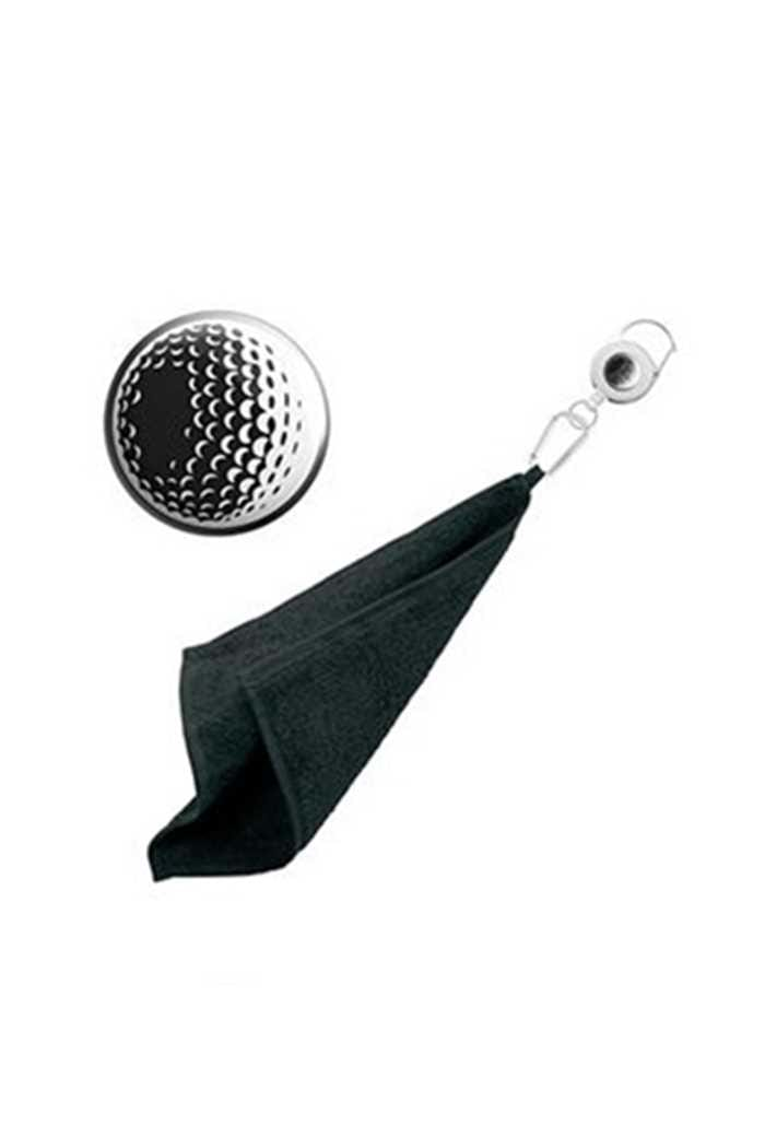 Picture of Surprizeshop zns  Retractable Towel - Black Golf Ball