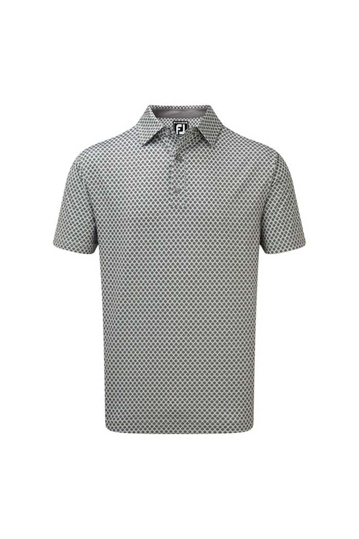 Picture of Footjoy Stretch Lisle Foulard Print Polo Shirt - Grey