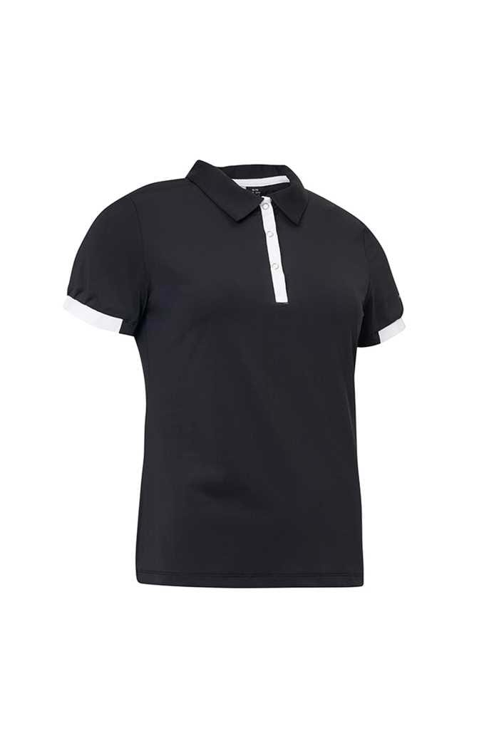 Picture of Abacus Ladies Cherry Polo Shirt - Black