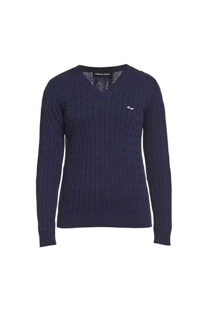 Picture of Rohnisch Ladies Cable Pullover - Indigo Night