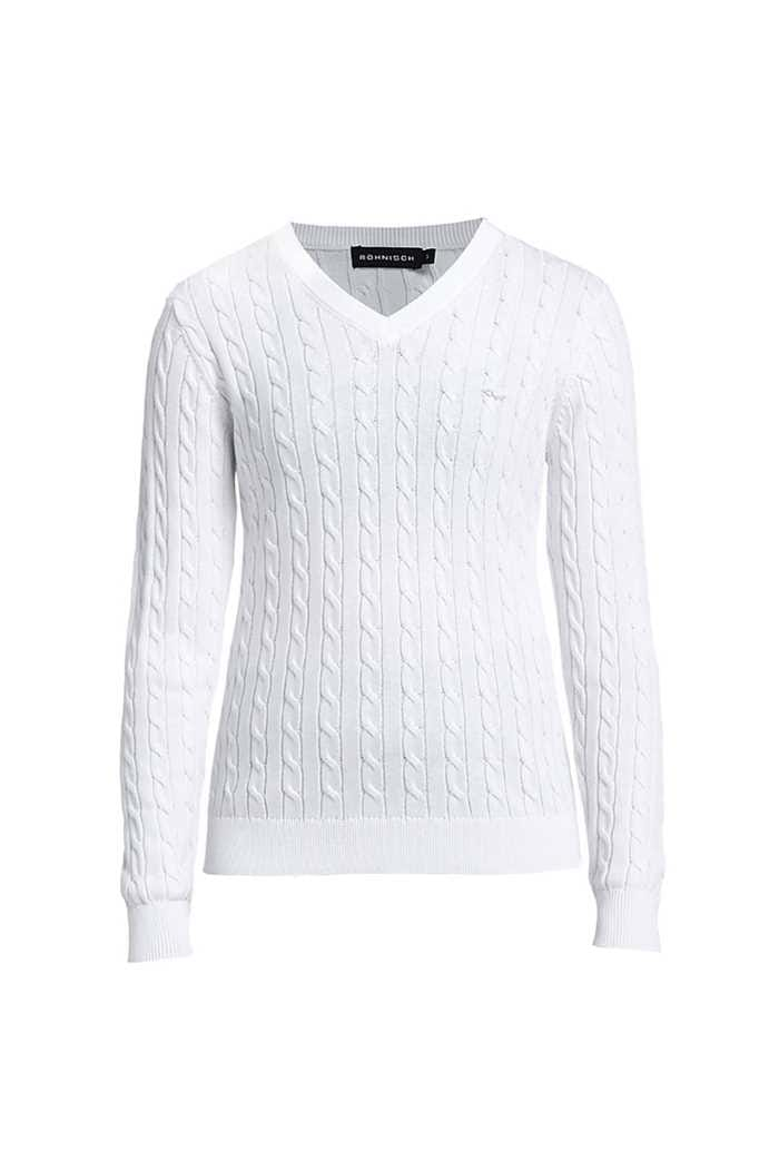 Picture of Rohnisch zns  Cable Pullover - White