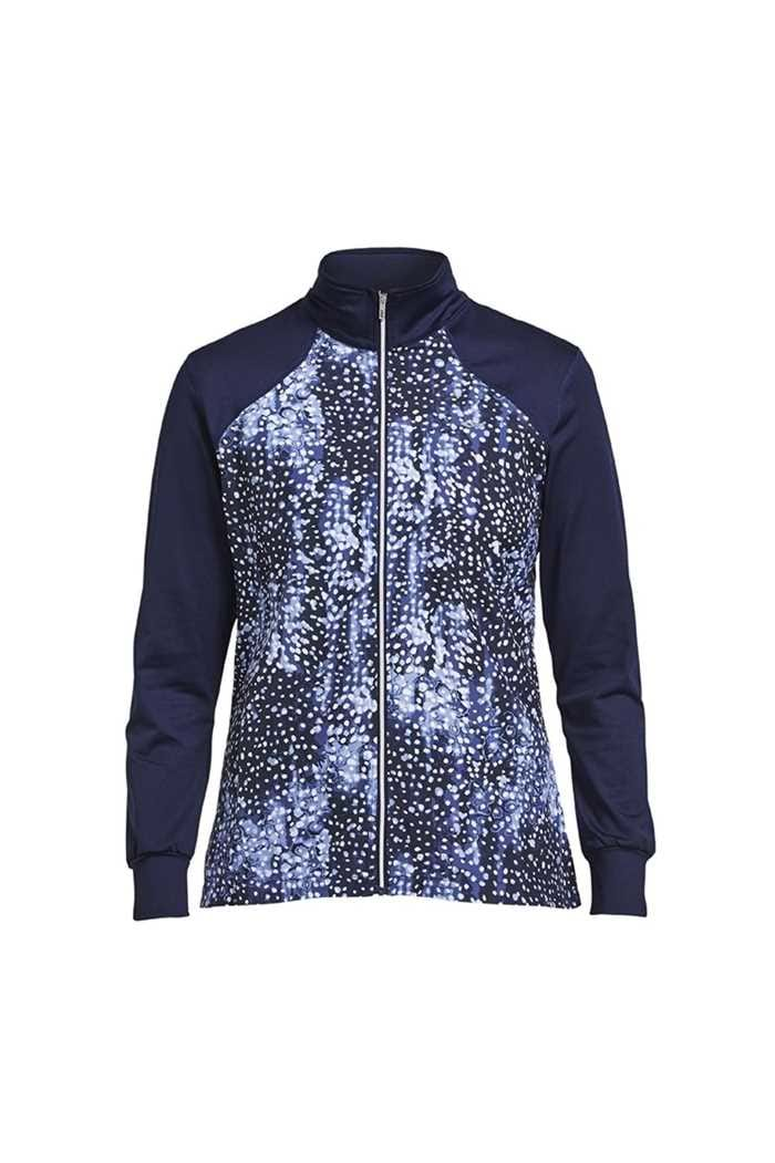 Picture of Rohnisch zns Chip Full Zip Jacket - Navy Dot