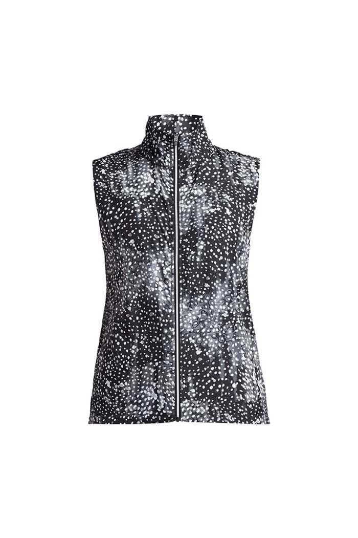 Picture of Rohnisch Ladies Pocket Wind Vest - Black Dot