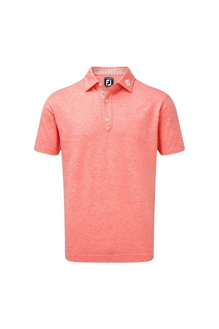 Picture of Footjoy zns Stretch Heather Pique with Stripe Trim - Watermelon