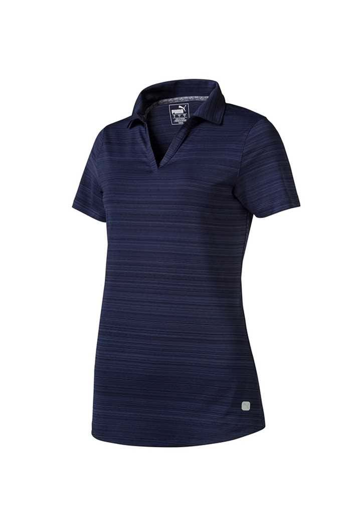 Picture of Puma Golf Women's Coastal Polo Shirt - Peacoat