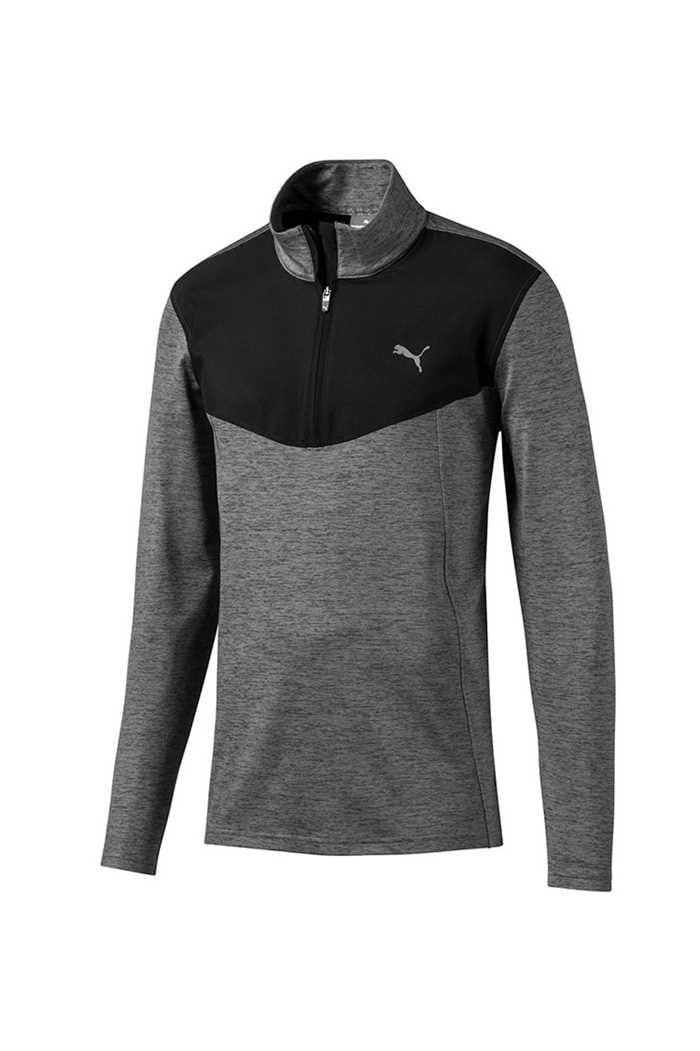 Picture of Puma Golf Men's Preston 1/4 Zip Sweater - Puma Black Heather