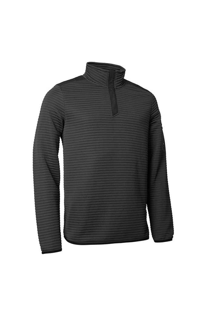 Picture of Abacus Men's Buddock Half Zip Fleece - Dark Grey Melange
