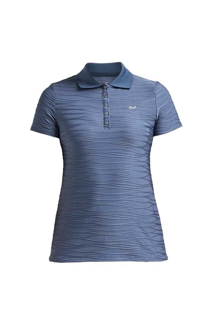 Picture of Rohnisch ZNS Ladies Wave Short Sleeve Polo Shirt - Dusty Blue