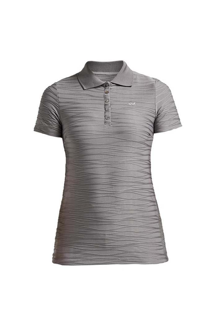 Picture of Rohnisch zns Ladies Wave Short Sleeve Polo Shirt - Dark Greige