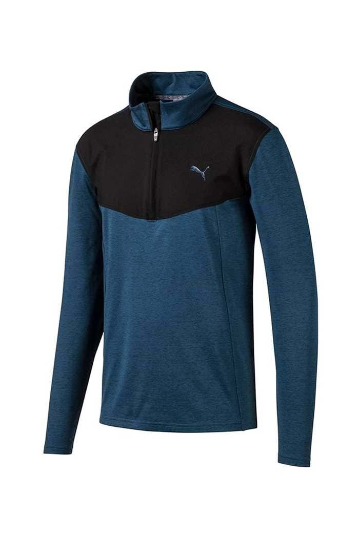Picture of Puma Golf Men's Preston 1/4 Zip Sweater - Gibralter Sea Heather