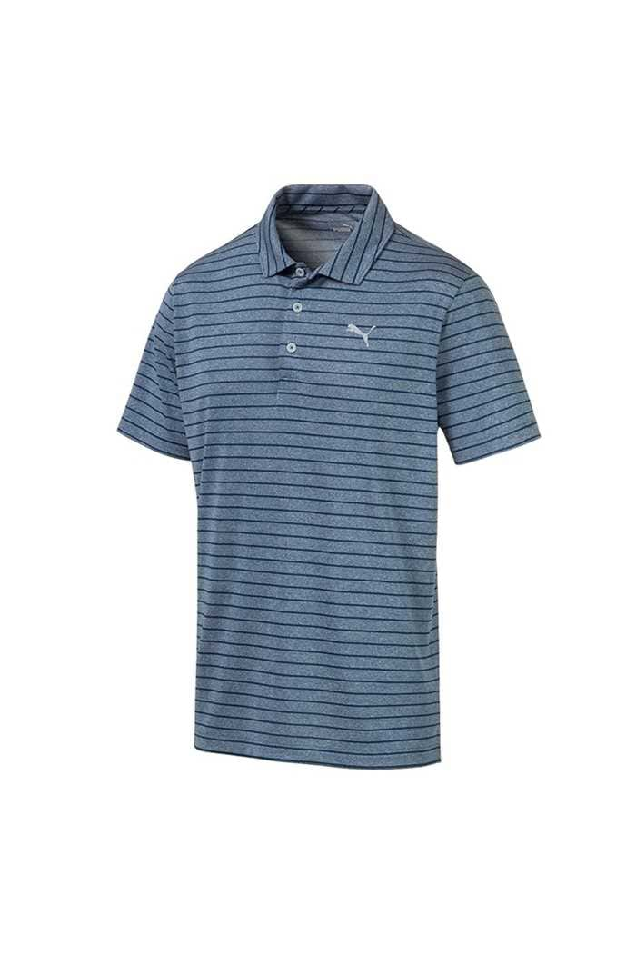 Picture of Puma Golf Men's Rotation Stripe Polo Shirt - Gibralter Sea