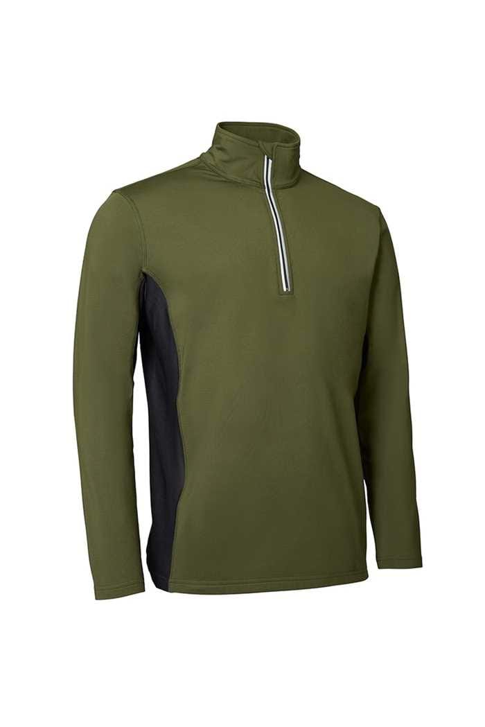 Picture of Abacus Men's Ashby Half Zip Top - Olive