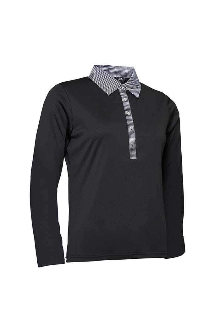 Picture of Abacus Ladies Crail Longsleeve Polo Shirt - Black
