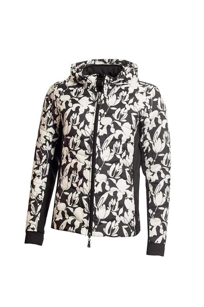 Picture of Green Lamb ZNS Ladies Justine Padded Jacket - Black / White