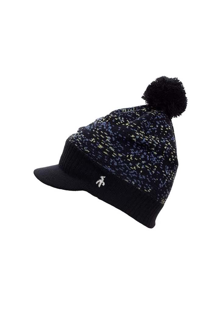 Picture of Green Lamb zns  Ladies Isabelle Fleece Lined Patterned Beanie - Navy