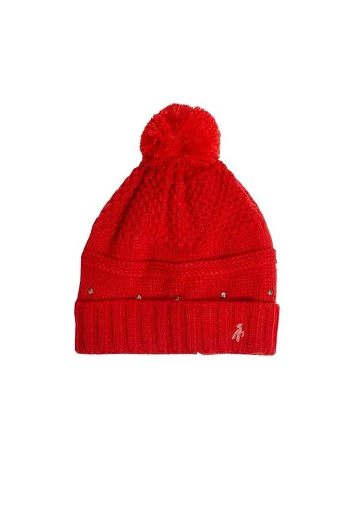 Picture of Green Lamb Ladies Inge Fleece Lined Beanie - Rouge