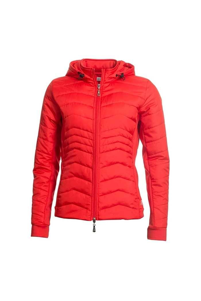 Picture of Green Lamb zns Ladies Justine Padded Jacket - Rouge