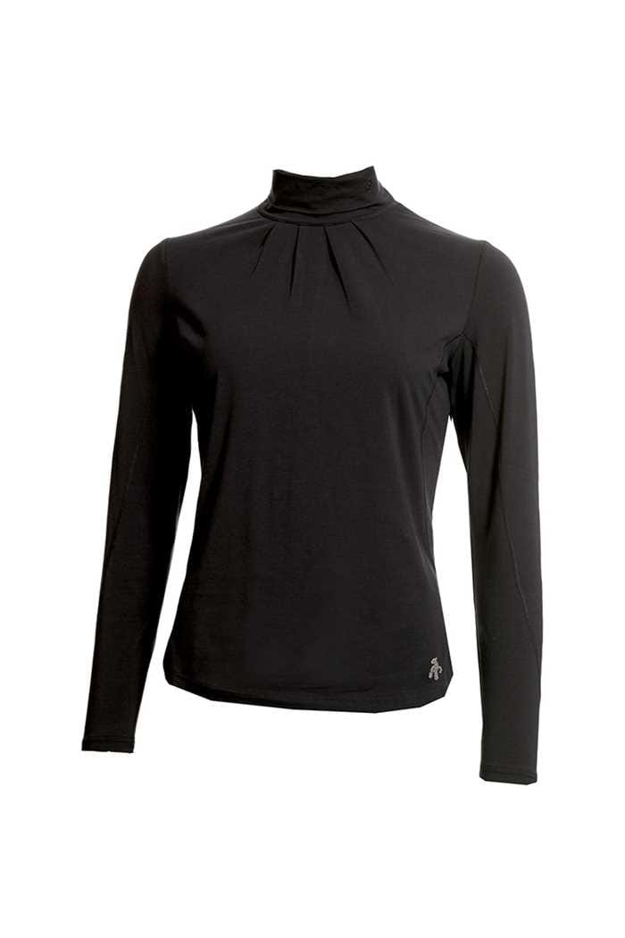 Picture of Green Lamb Ladies Regan Cotton Roll Neck Top - Black