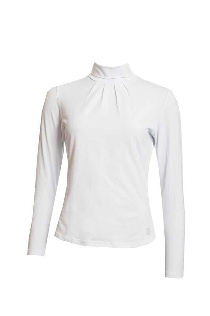 Picture of Green Lamb Ladies Regan Cotton Roll Neck Top - White
