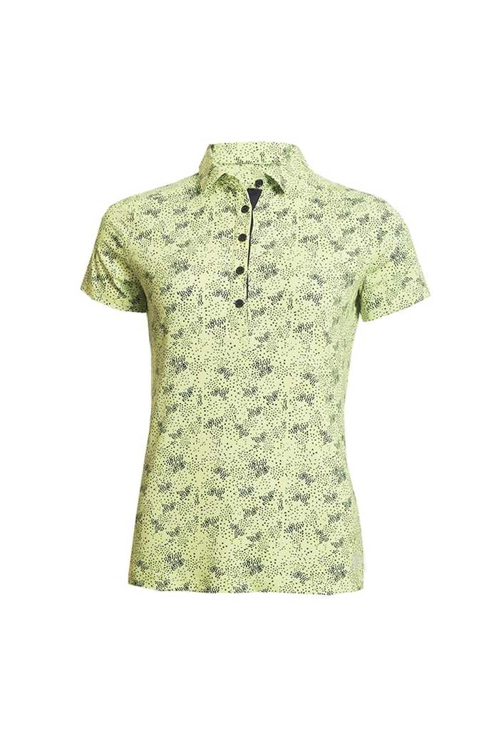 Picture of Green Lamb ZNS Ladies Priscilla Printed Polo Shirt - Lime / Navy