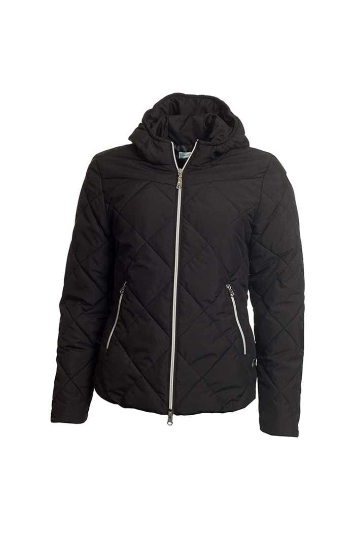 Picture of Green Lamb Ladies Jules Quilted Jacket with Hood - Black