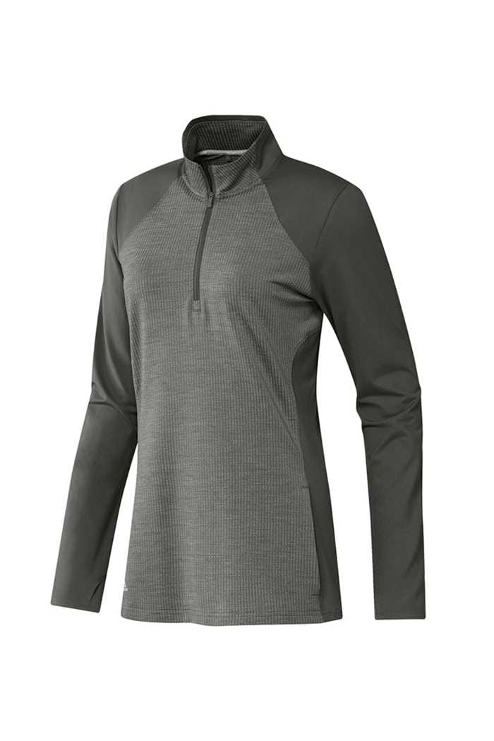 Picture of adidas Ladies Half Zip Knit Jacket - Legend Earth