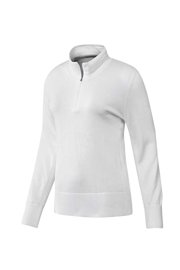 Picture of adidas Ladies 3 Stripe Sweater - White