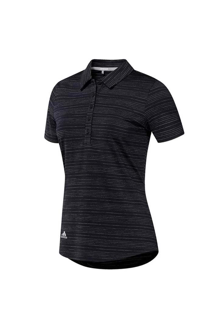 Picture of adidas Ladies Novelty Short Sleeve Polo Shirt - Black / White