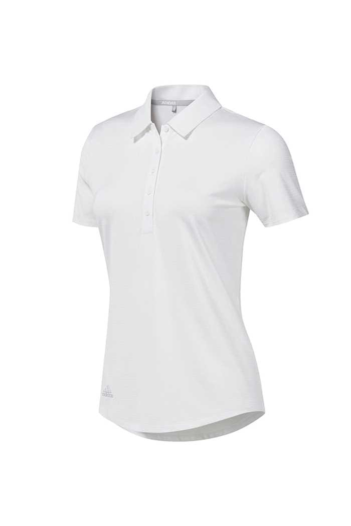 Picture of adidas Ladies Novelty Short Sleeve Polo Shirt - White