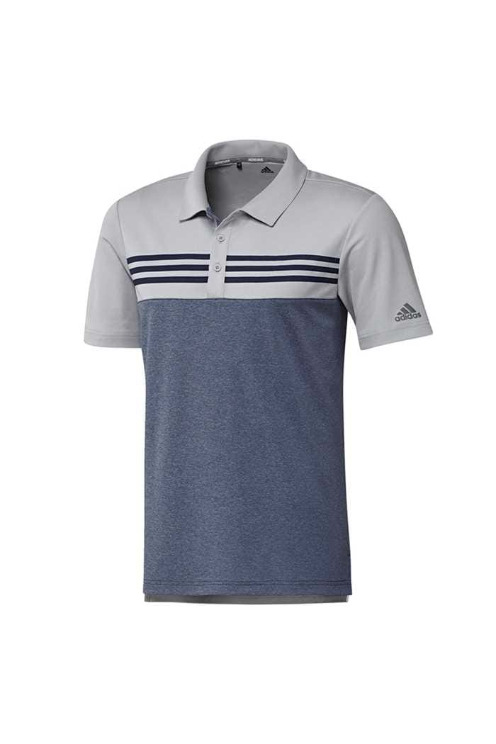 Picture of adidas zns Men's Heather Block Polo Shirt - Grey Two Heather