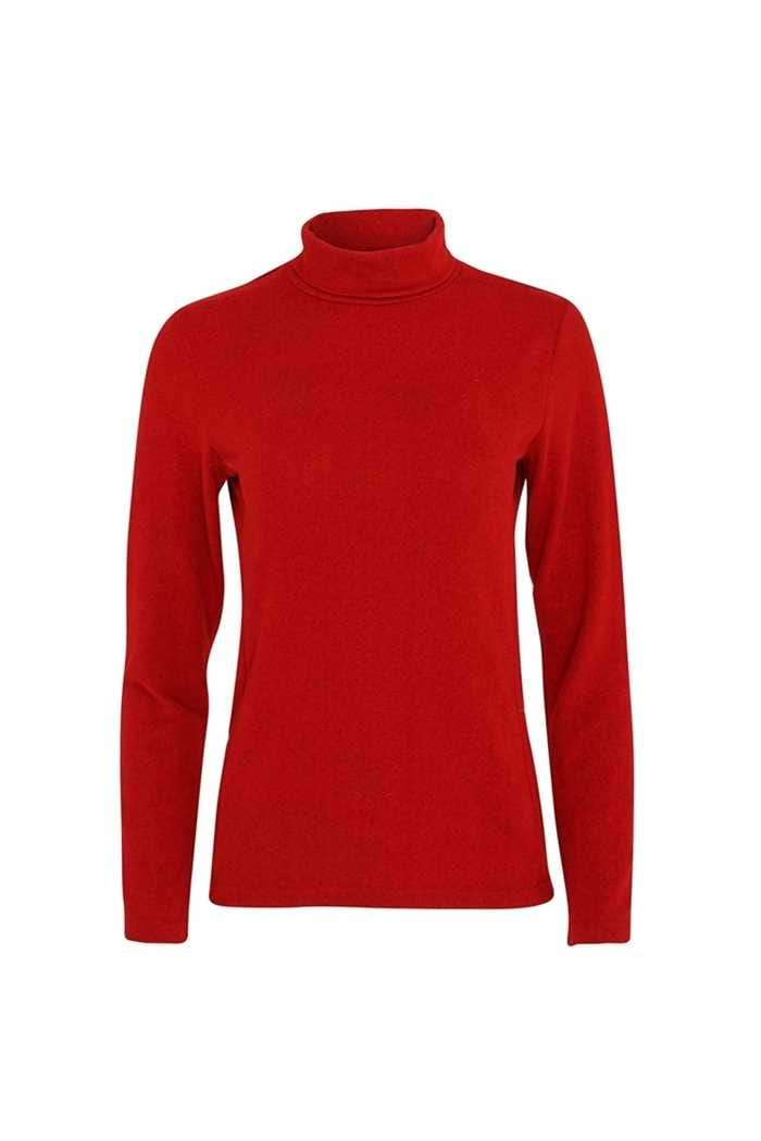 Picture of Swing out Sister Ladies Grace Roll Neck Baselayer - Chilli Red