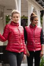 Picture of Swing out Sister Ladies Eloise Water Repellant Jacket / Gilet - Chilli Red