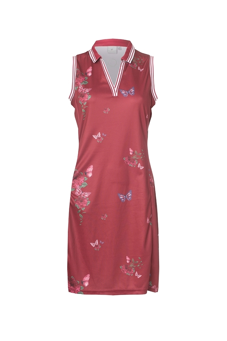 Picture of Cross Sportswear Ladies W Nostalgia Dress - Rumba Red