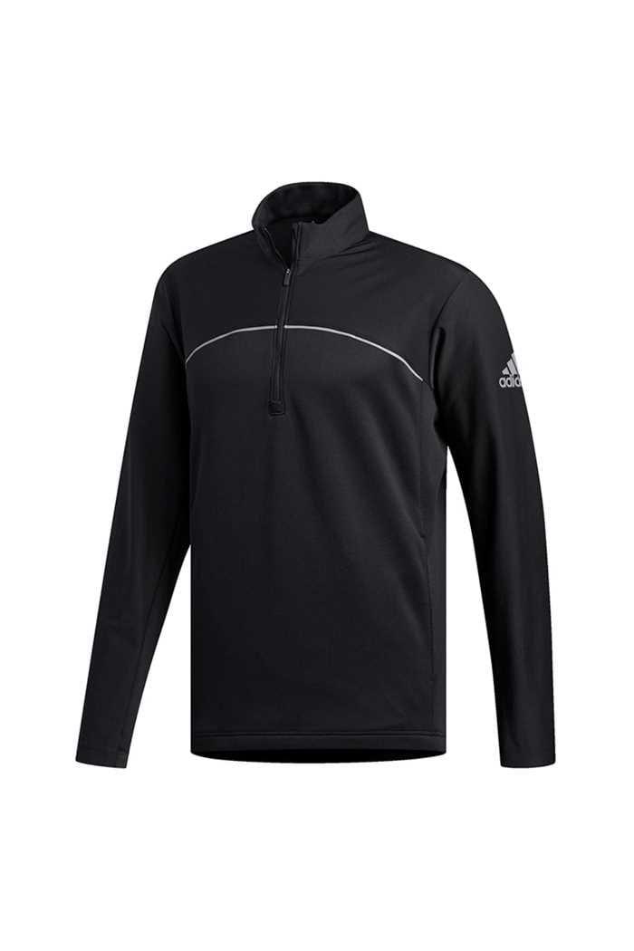 Picture of adidas Golf Men's Go To Adapt 1/4 Zip Sweater - Black