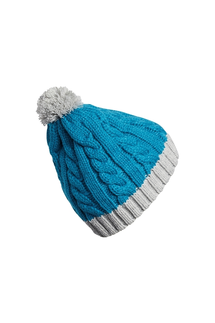 Picture of adidas Golf zns Ladies Two Tone Pom Pom Beanie - Active Teal