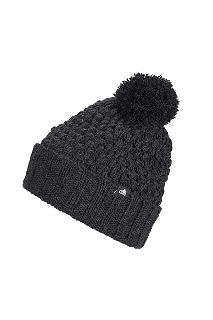 Picture of adidas Golf Ladies Fleece Lined Pom Pom Beanie - Black