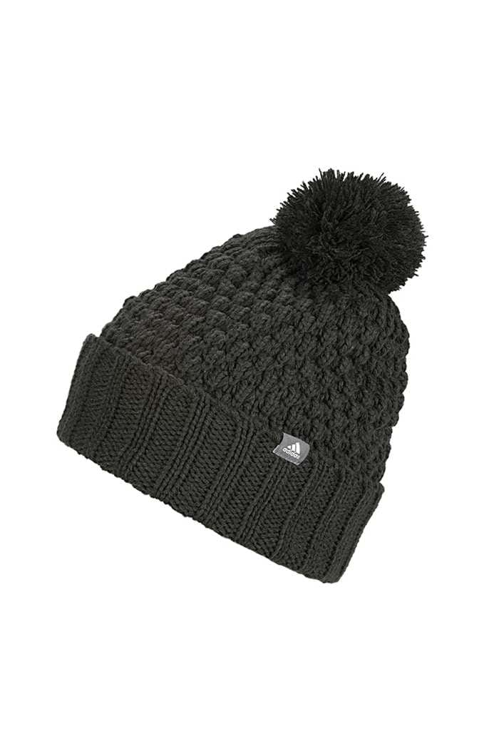 Picture of adidas zns Golf Ladies Fleece Lined Pom Pom Beanie - Legend Earth