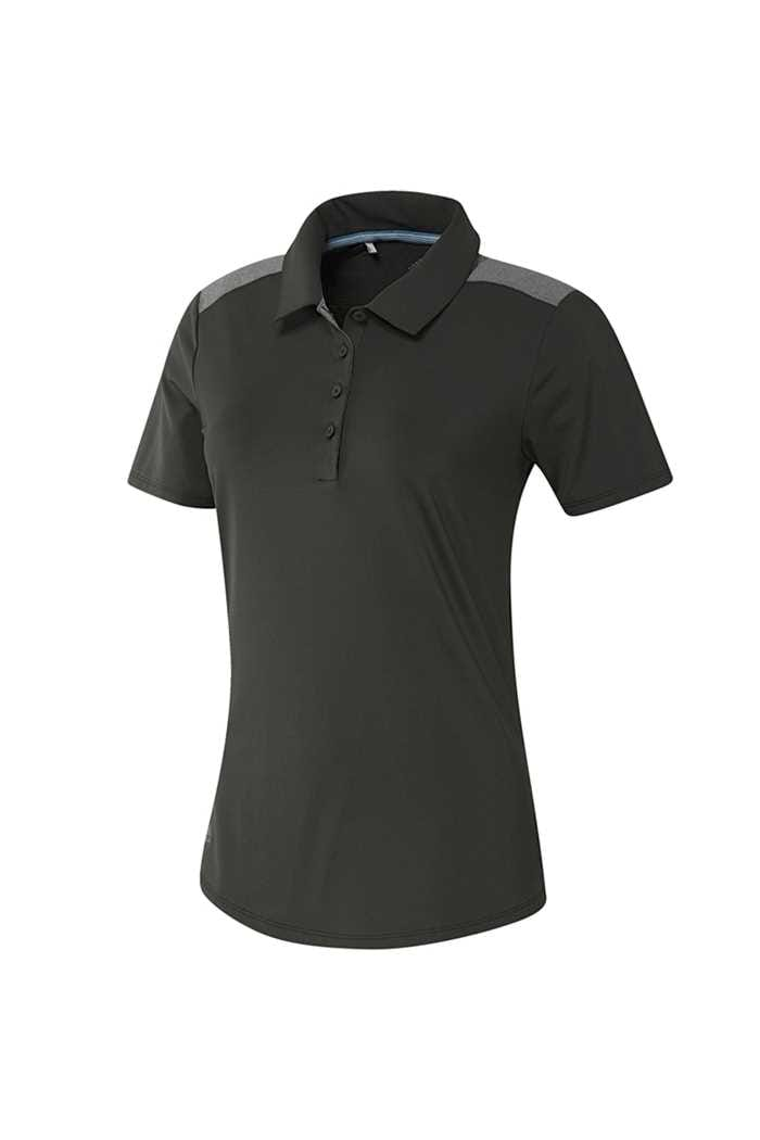 Picture of adidas Golf Ladies Ultimate Heather Short Sleeve Polo Shirt - Legend Earth
