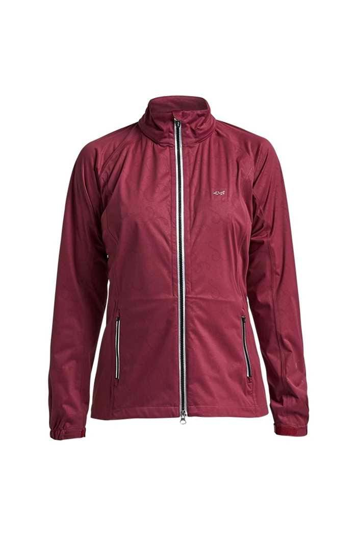Picture of Rohnisch Ladies Waterproof Rain Jacket - Burgundy Rain Swirl